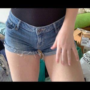 Dark blue guess jean shorts